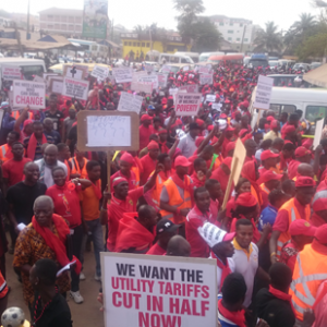 PHOTOS: Organised labour hit the streets over price hikes
