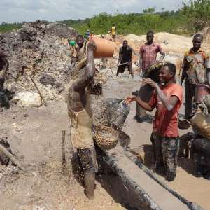 Over 4,000 illegal miners relocated from Obuasi mine