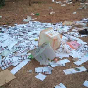 Tamale Central: Ballot boxes vandalised, collation process distorted – Watch Visuals