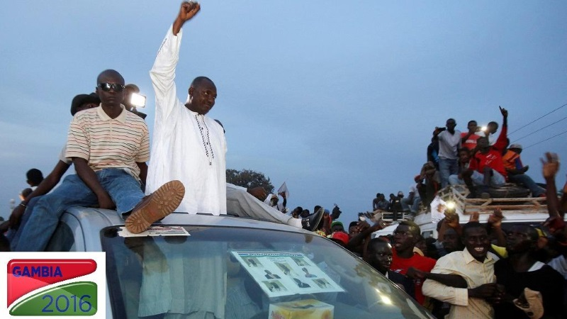 Opposition leader Adama Barrow