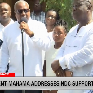 VIDEO: Mahama urges Ghanaians to remain calm