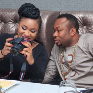 Tonto Dikeh and husband in obnoxious struggle for their son